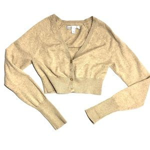 {Old Navy} Beige Long Sleeve Short Sweater